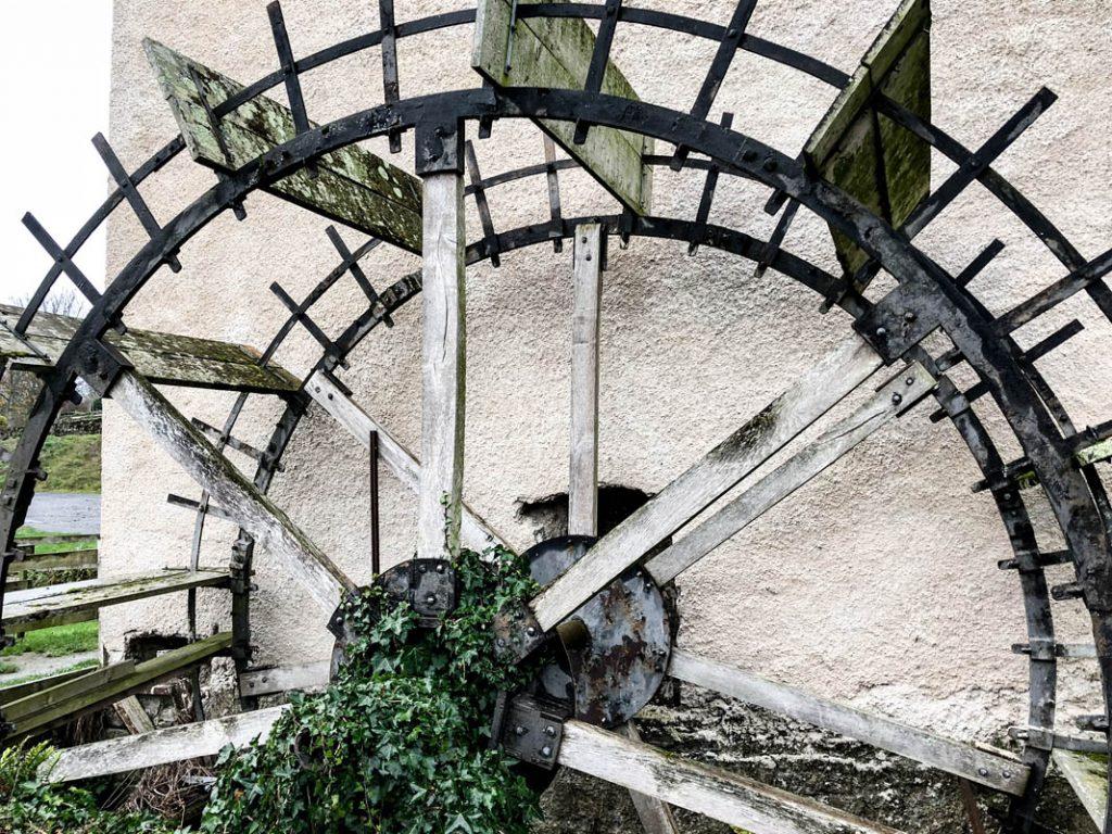 The waterwheel at Hutchinsons Mill in Kells, Ireland